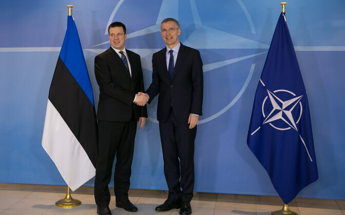 Estonian Prime Minsiter Jüri Ratas with NATO Secretary General Jens Stoltenberg in Brussels. March 9, 2017.
