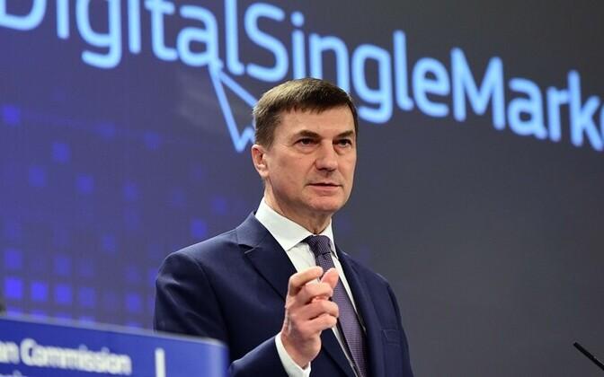 Комиссар ЕС по цифровой экономике и обществу Андрус Ансип.