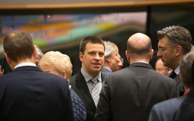 Ratas before the meeting of the EU's heads of state and government, Mar. 10, 2017.