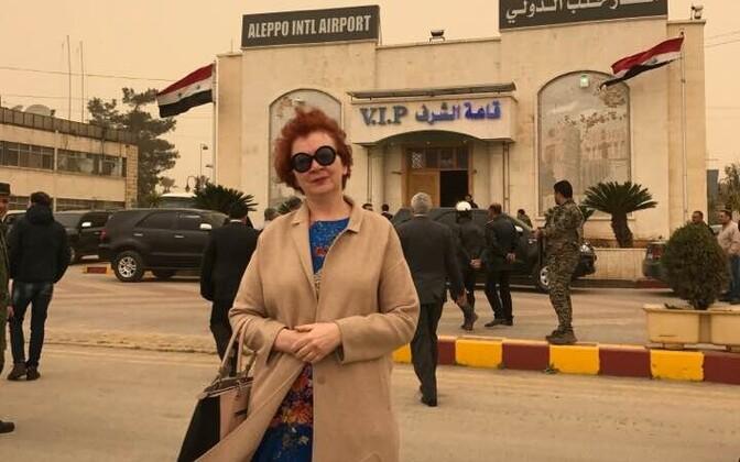 Estonian MEP Yana Toom in Aleppo, Syria.