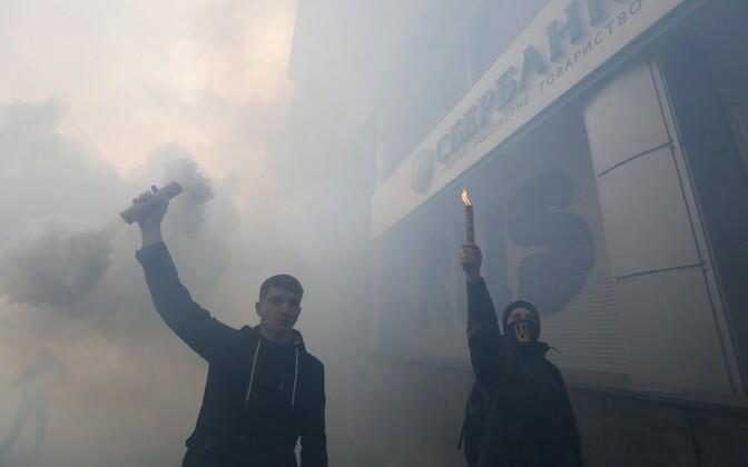 Украинские радикалы в Киеве.