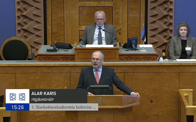 Alar Karis speaking in the Riigikogu, Mar. 13, 2017.