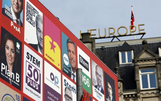 Valimisplakatid Amsterdamis.