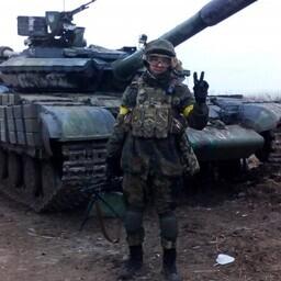 Один из бойцов Правого сектора в Донбассе.