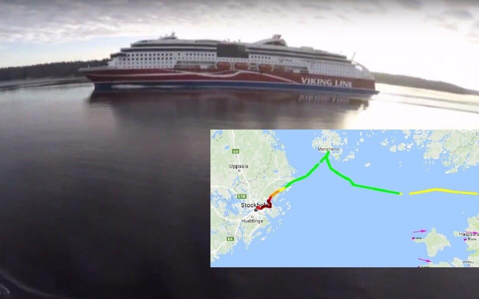 Õlikomponentide automaatseire süsteem FerryBox kogub laeva sõidu ajal andmeid mere pinnakihist.