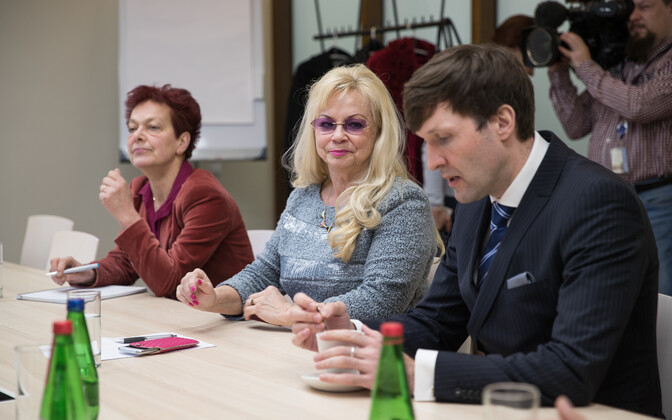 Estonian Broadcasting Council meeting, with EKRE MP Martin Helme on the right.