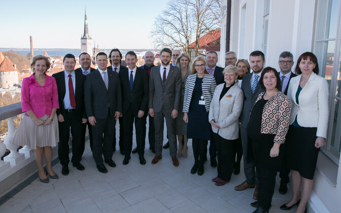 Representatives of the European Commission meeting with the Estonian government in Tallinn. March 16, 2017.