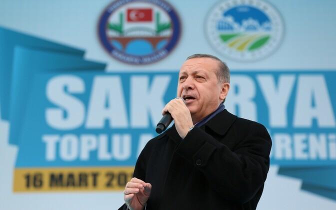Türgi president Recep Tayyip Erdoğan.