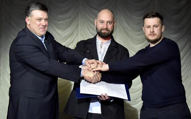 Oleg Tjagnibok, Andri Tarassenko ja Andri Biletski.