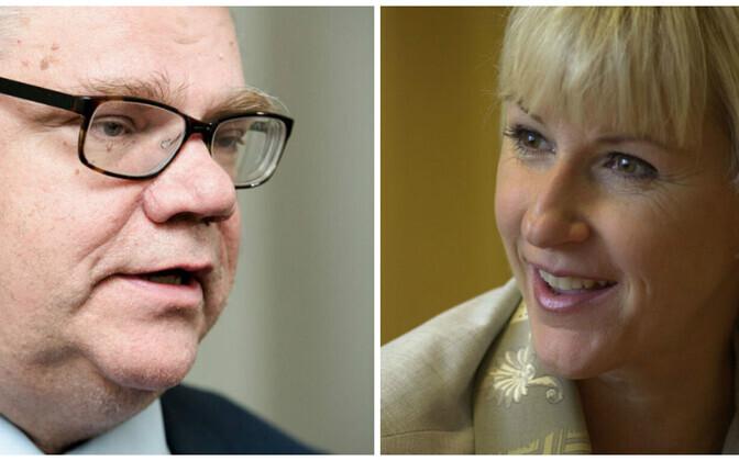 Главы МИДов Финляндии Тимо Сойни и Швеции Маргот Вальстрём