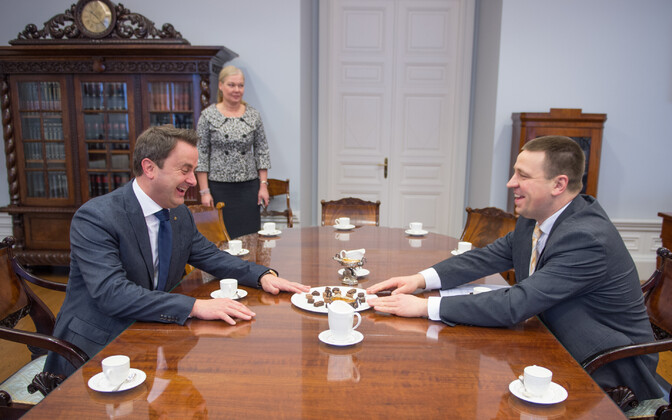 Prime Ministers Xavier Bettel and Jüri Ratas met in Tallinn on Friday. March 17, 2017.