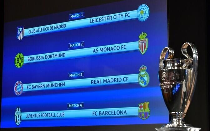 В Лиге чемпионов определились составы четвертьфиналов.