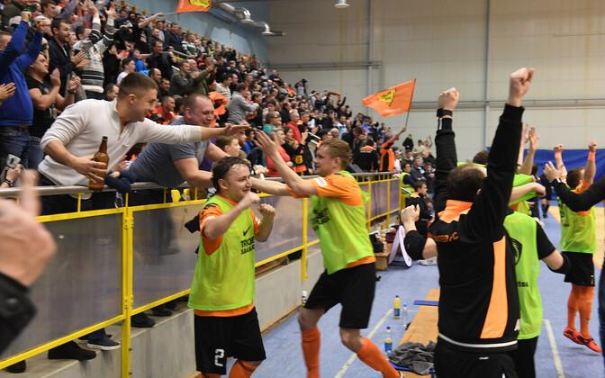 Нарва Юнайтед - чемпион Эстонии по футзалу 2017.