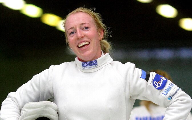 Estonian women's épée fencer Nelli Paju.