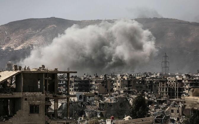 Damaskuses ägenes sõjategevus.
