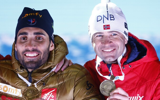 Martin Fourcade ja Ole Einar Björndalen tänavusel MM-il.