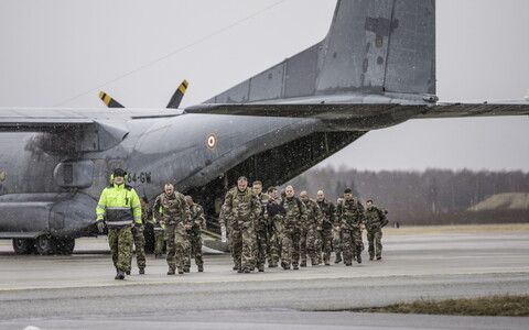 French soldiers arriving in Estonia (photo is illustrative).