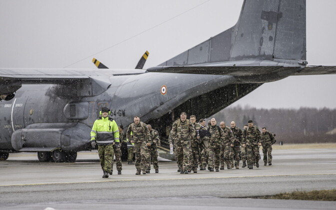 The first French soldiers arrived in Estonia on Monday. March 20, 2017.