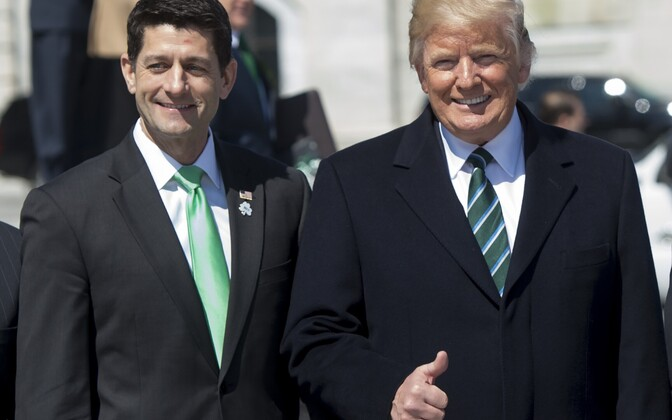 Paul Ryan ja Donald Trump.