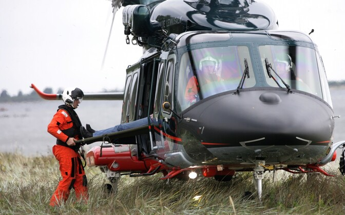 One of Estonia's three rescue and police helicopters.