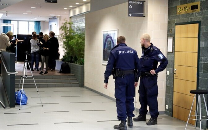 Police in a Finnish courthouse. Photo is illustrative.