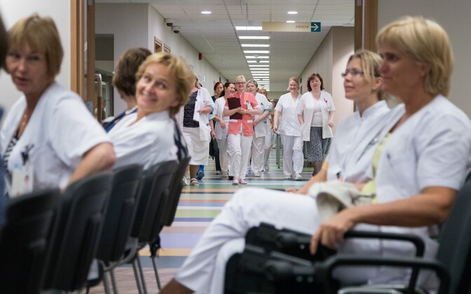 Doctors at Tallinn Children's Hospital. Sept. 20, 2016.