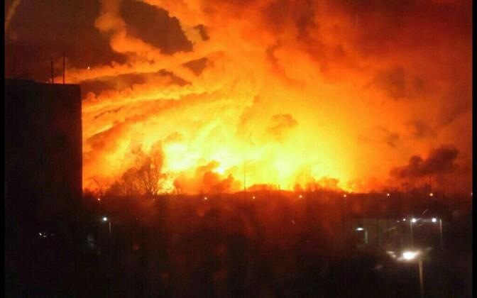 Plahvatus Ukraina suurimas relvalaos.