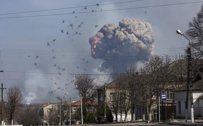 Põleng Ukraina laskemoonalaos 23. märtsil.