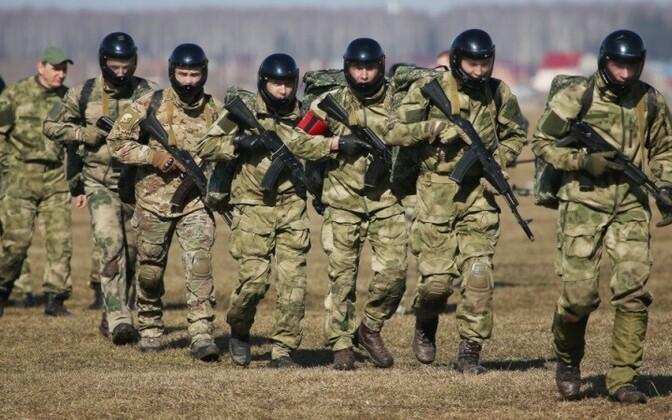 Бойцы Росгвардии на учениях.