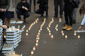 Candles were lit in Narva in remembrance of the victims of the March 1949 deportations.