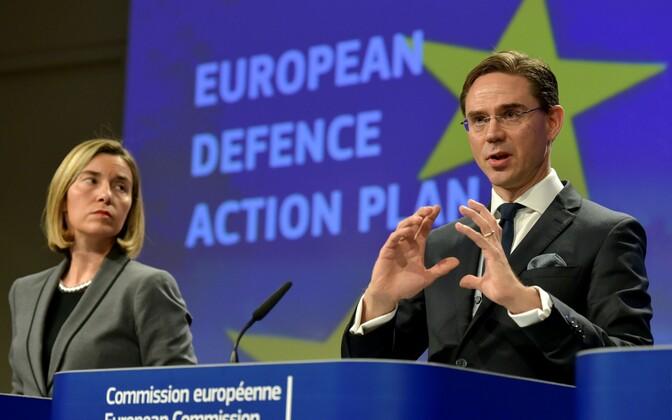 Federica Mogherini ja Jyrki Katainen.