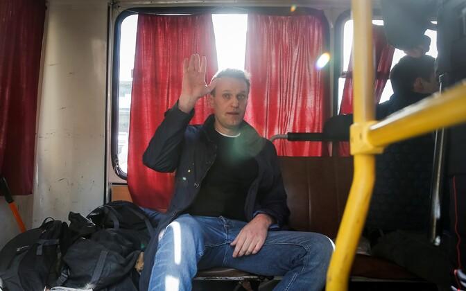 Алексей Навальный был задержан на воскресной акции на Тверской улице.
