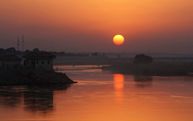 Eufrati jõgi Raqqa lähistel.