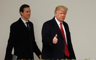 Jared Kushner ja Donald Trumpt.