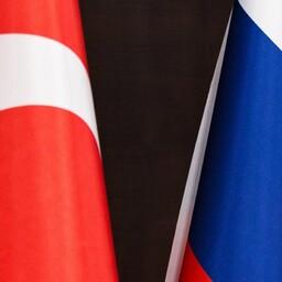Türgi ja Vene lipud.
