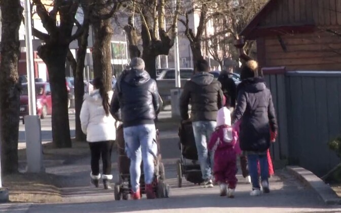 War refugees in Haapsalu. Photo is illustrative.