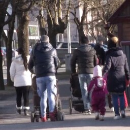 War refugees in Haapsalu. Photo is illustrative.