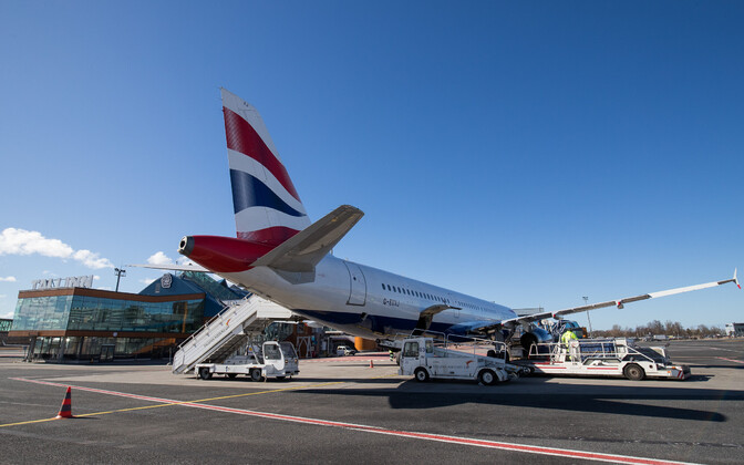 British Airways jet at Tallinn Airport.