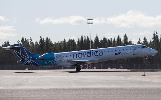 Nordica jet taking off.