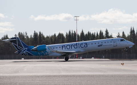 Nordica jet taking off.