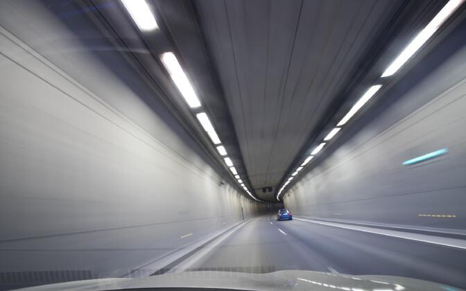 Туннель Юлемисте в Таллинне.
