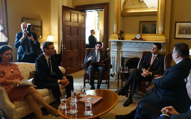 Sven Mikser and his Baltic colleagues met with U.S. Speaker of the House of Representatives Paul Ryan in Washington. March 28, 2017.