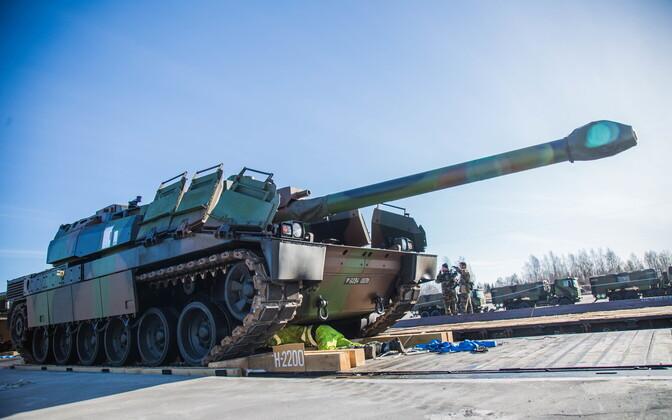 Prantsuse tank 2017. aasta märtsis Tapal.