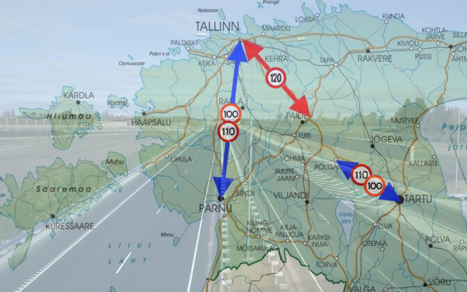 Jüri-Mäo lõigul võib tulevikus olla võimalik sõita kiirusega kuni 120 km/h.