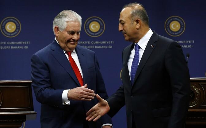 USA väliminister Rex Tillerson ja Türgi välisminister Mevlüt Çavuşoğlu.