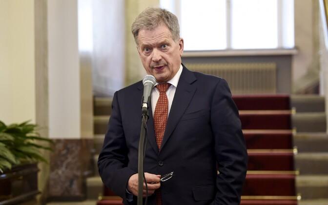 Finnish president Sauli Niinistö.