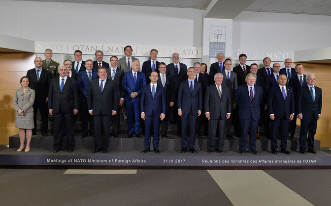 The alliance's foreign ministers in Brussels, Mar. 31, 2017.
