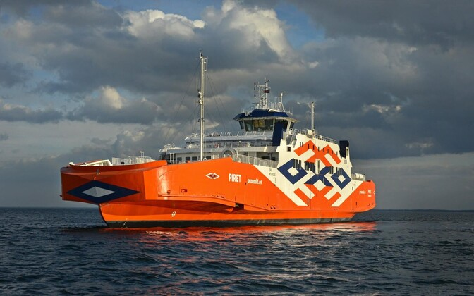 The Piret, the final of the four new ferries to arrive in Estonia.