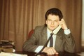 Eesti Raadio infosaadete peatoimetaja Ain Saarna. 15.02.1991