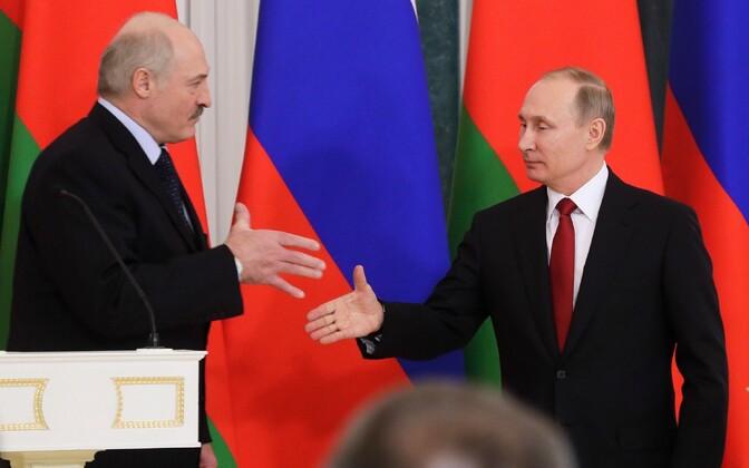 Aleksandr Lukašenko ja Vladimir Putin